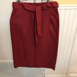 Gap Linen & Cotton maxi wrap skirt, rust color